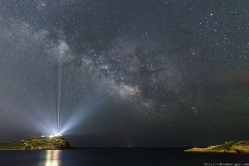 The Milky Way over the Temple of Poseidon
