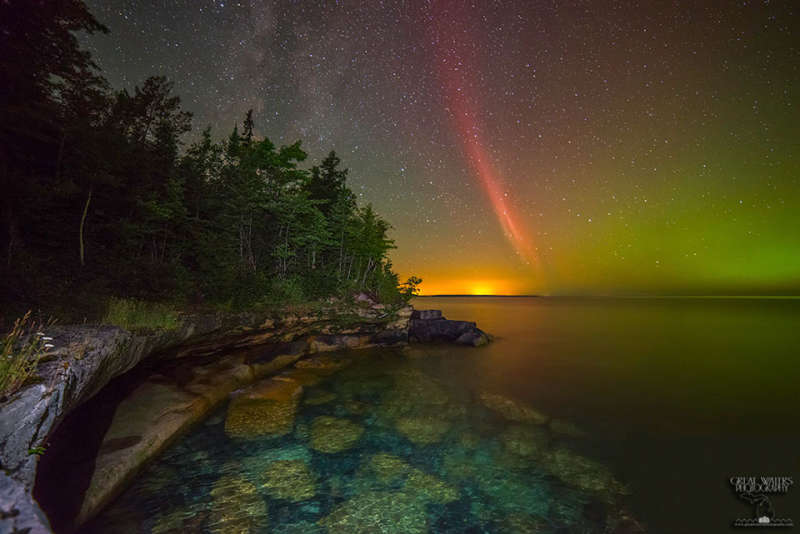 A Proton Arc Over Lake Superior