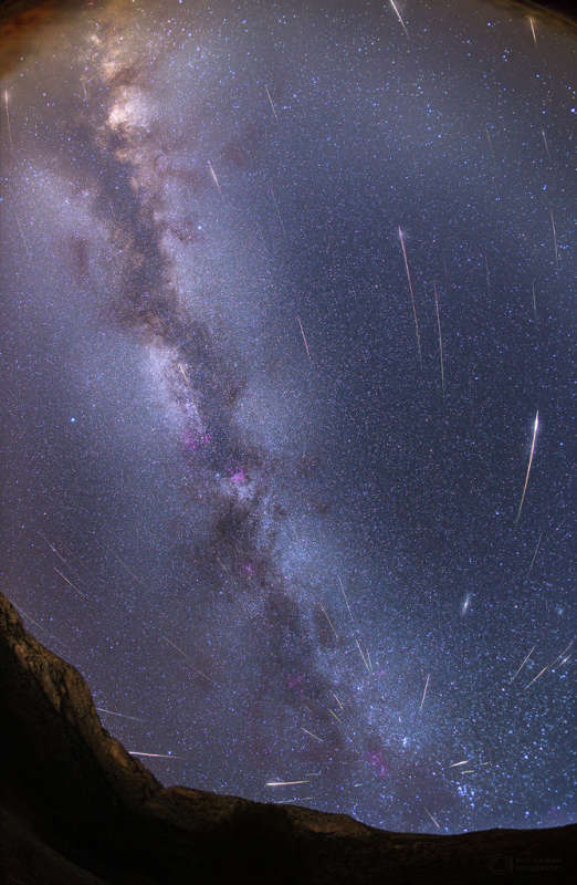 Moonless Meteors and the Milky Way