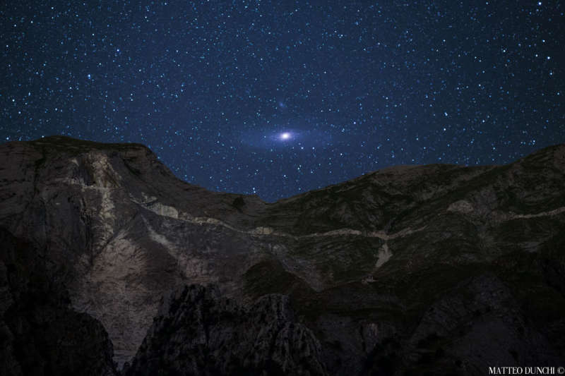 Andromeda Rising over the Alps