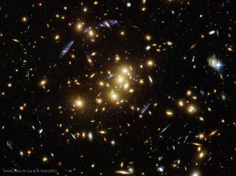 Giant Cluster Bends Breaks Images