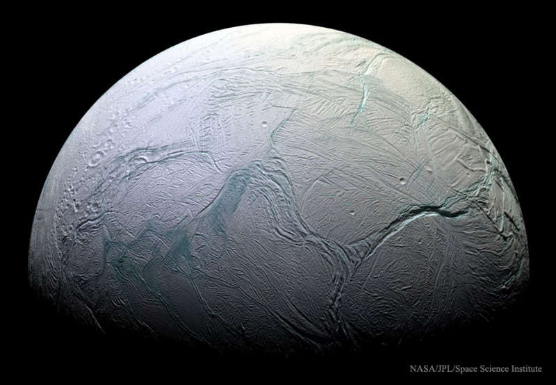 Global Ocean Suspected on Saturns Enceladus