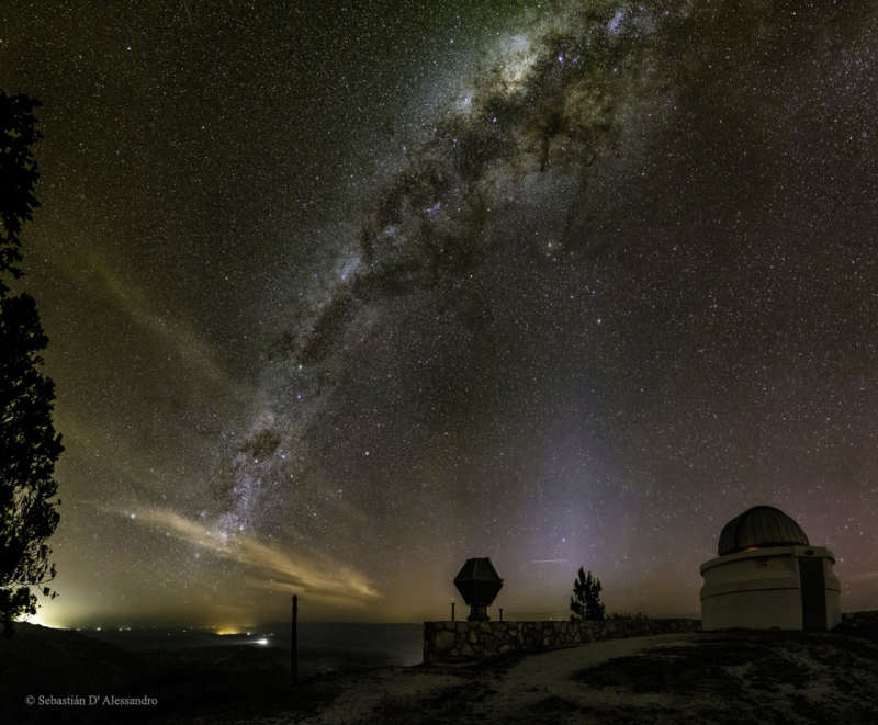 Milky Way over Bosque Alegre Station in Argentina