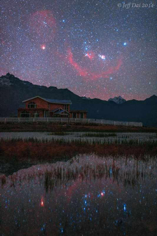 Orion Over and Under Tibet