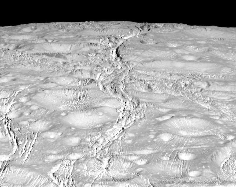 The Fractured North Pole of Saturns Enceladus