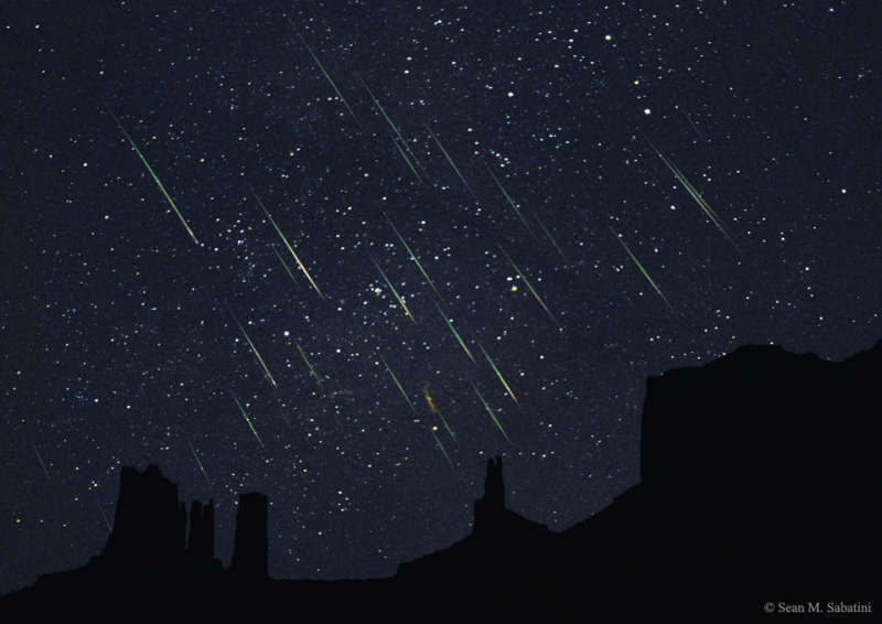 Leonids Over Monument Valley