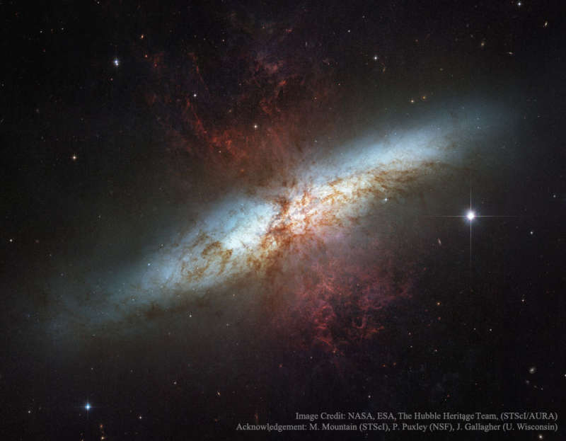 M82: Galaxy with a Supergalactic Wind