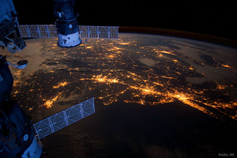 USAs Northeast Megalopolis from Space