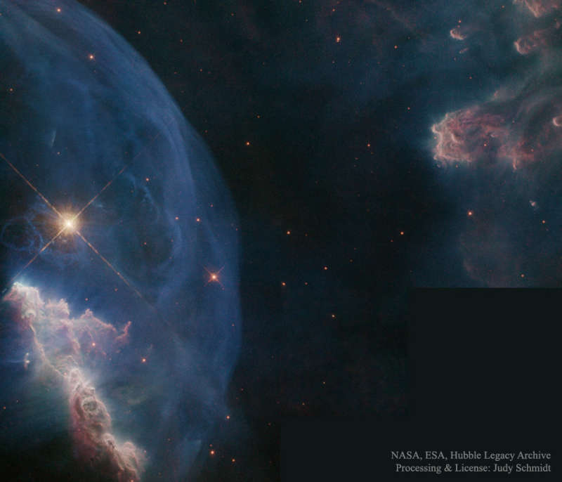 Close up of the Bubble Nebula