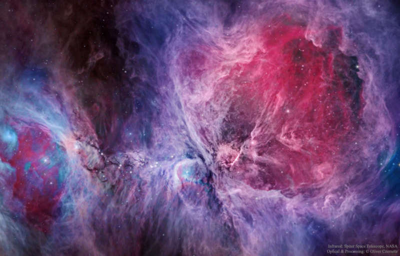 The Orion Nebula in Visible and Infrared