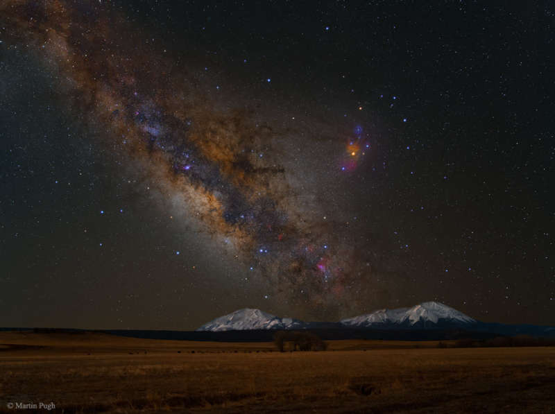 Milky Way Over the Spanish Peaks