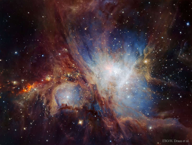 The Orion Nebula in Infrared from HAWK I