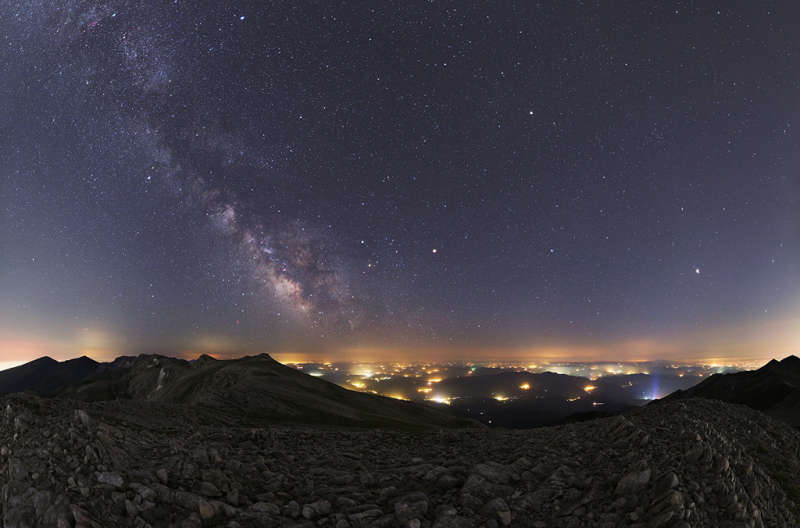 Summer Planets and Milky Way