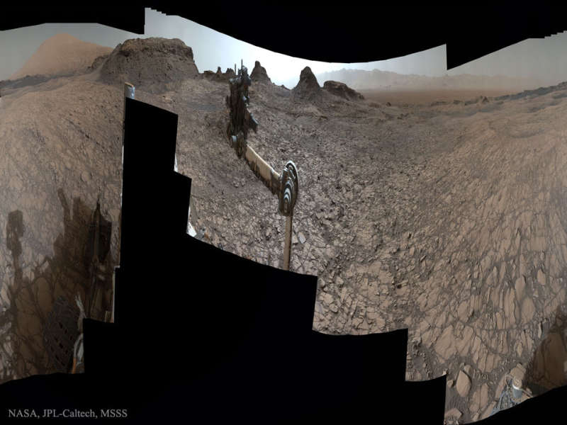 Curiosity at Murray Buttes on Mars