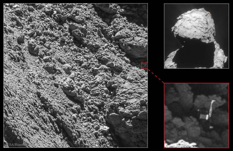 Philae Lander Found on Comet 67P