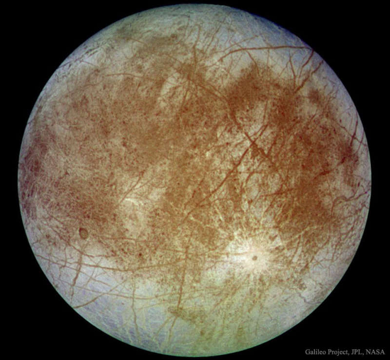 Jupiters Europa from Spacecraft Galileo