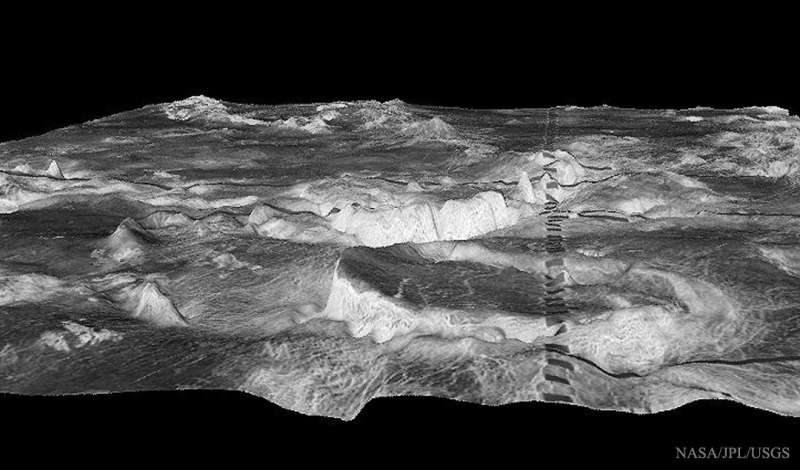 Cylindrical Mountains on Venus