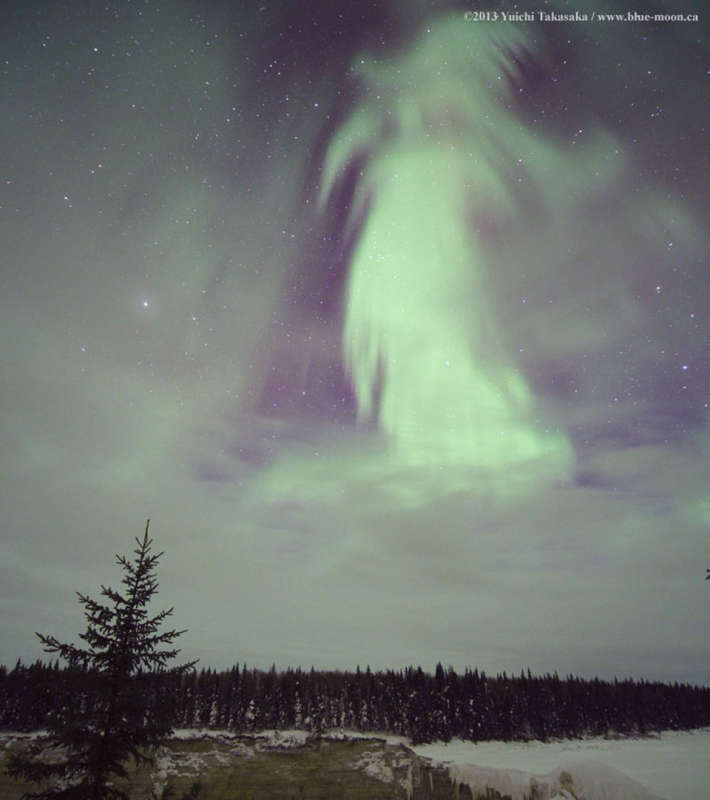 Ghost Aurora over Canada