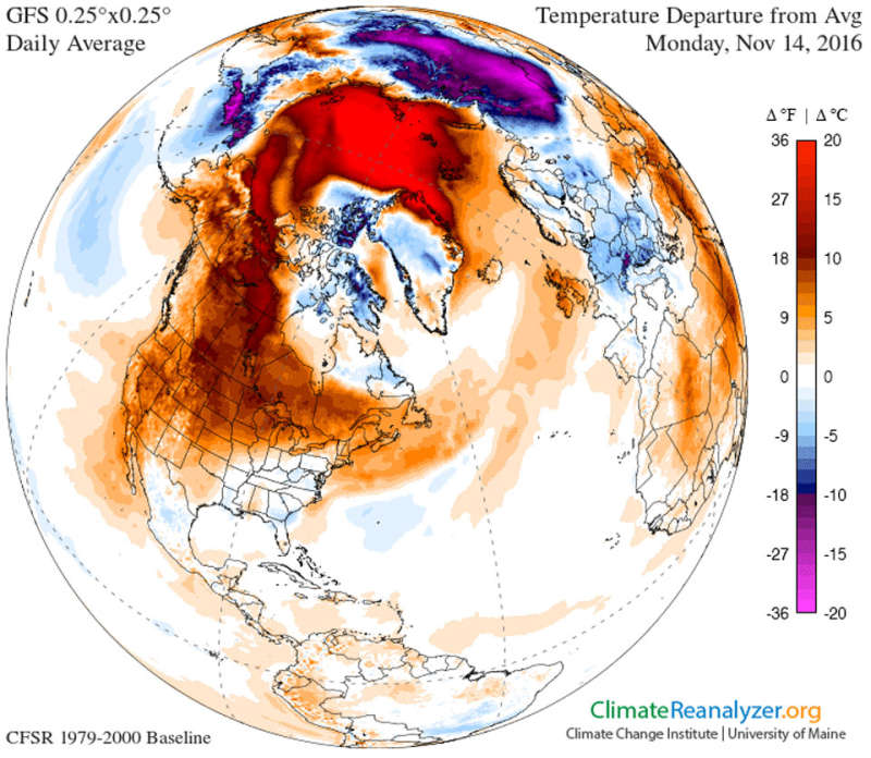 Cold Weather Delayed over North America