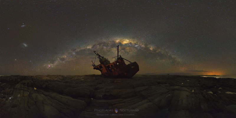 Milky Way over Shipwreck