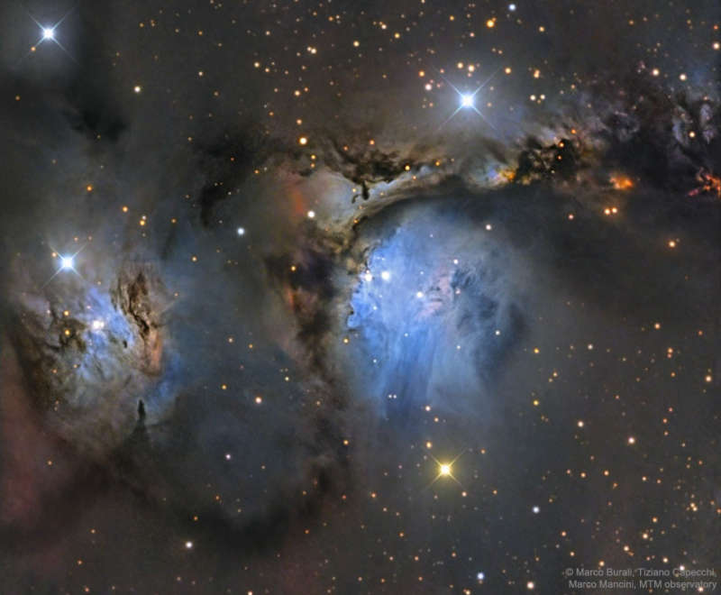 M78 and Orion Dust Reflections