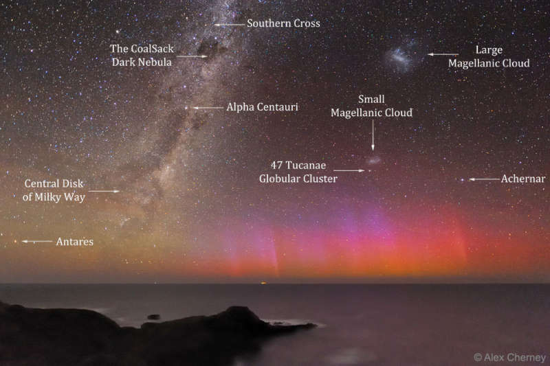 Red Aurora Over Australia