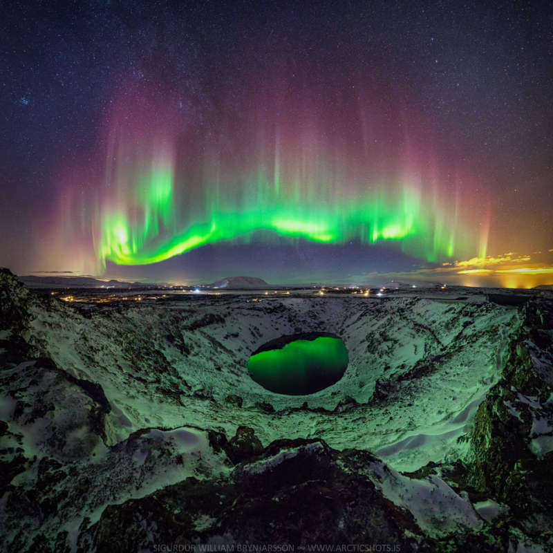 Colorful Aurora over Iceland