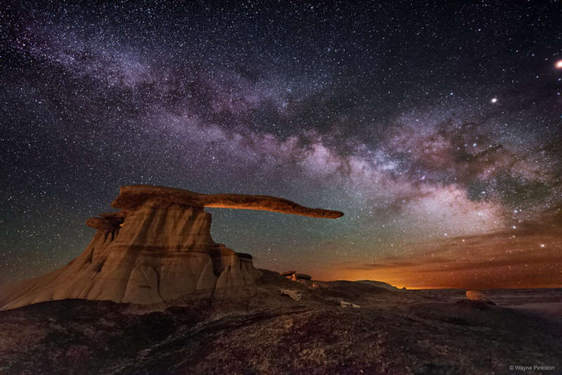 King of Wings Hoodoo under the Milky Way