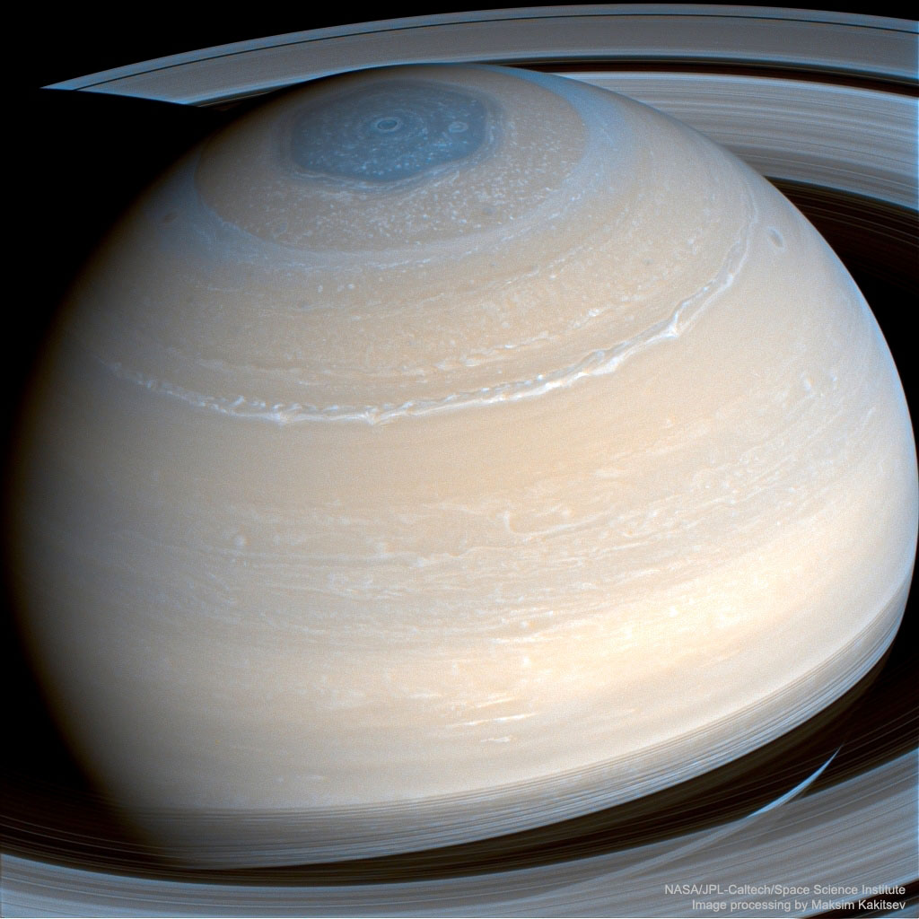 Saturn in Infrared from Cassini