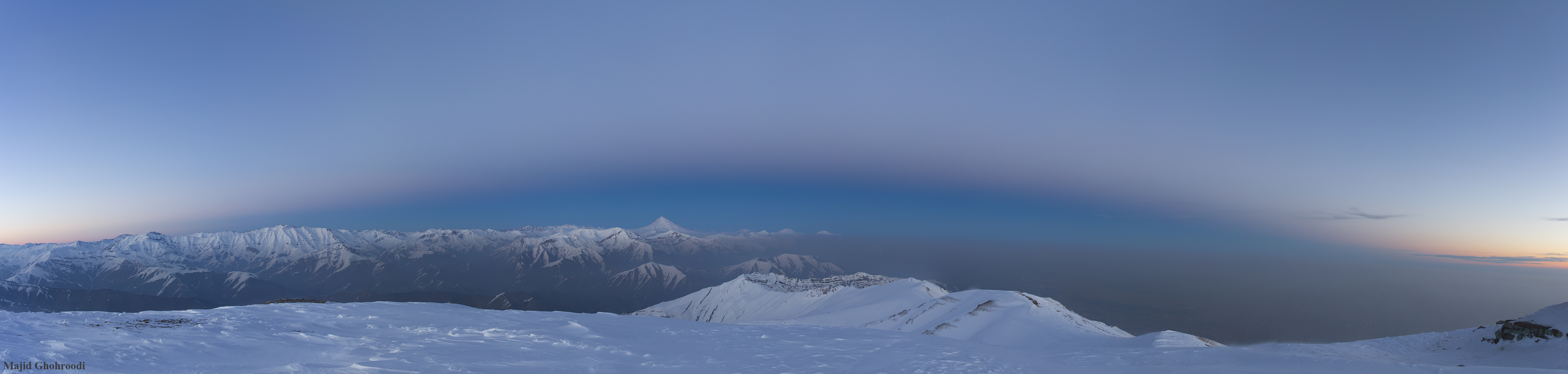 Earth Shadow over Damavand