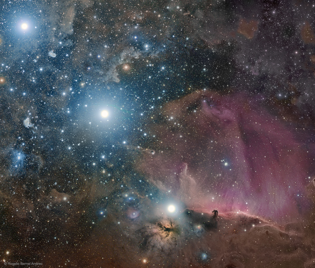 Orion: Belt, Flame, and Horsehead