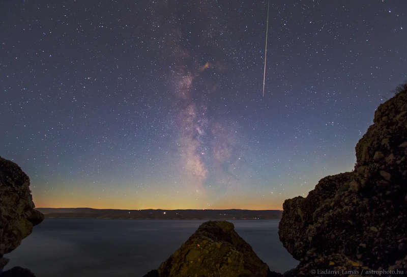 Perseid by the Sea