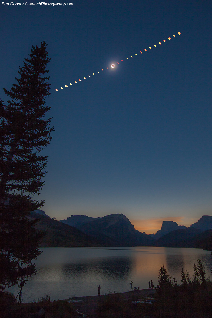 A Total Solar Eclipse over Wyoming
