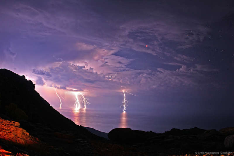 Lightning Eclipse from the Planet of the Goats