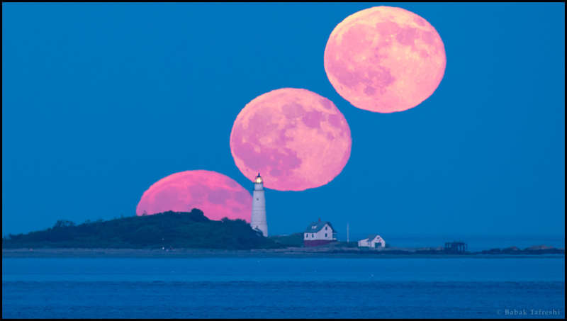 Full Moon and Boston Light
