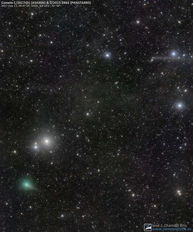 A Conjunction of Comets