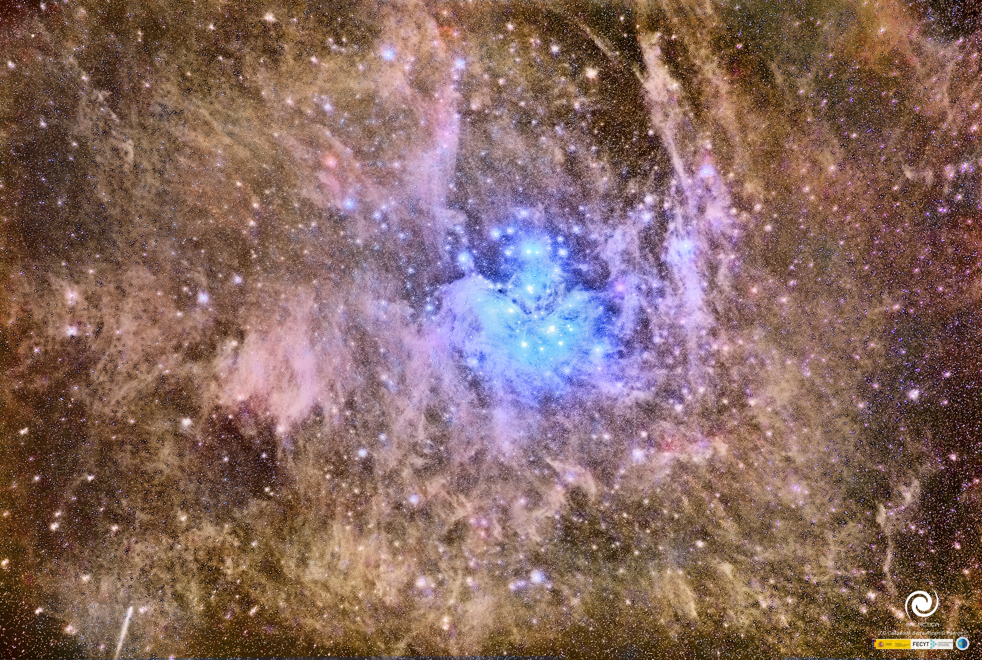 The Pleiades Deep and Dusty
