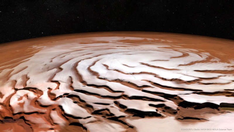 The Spiral North Pole of Mars