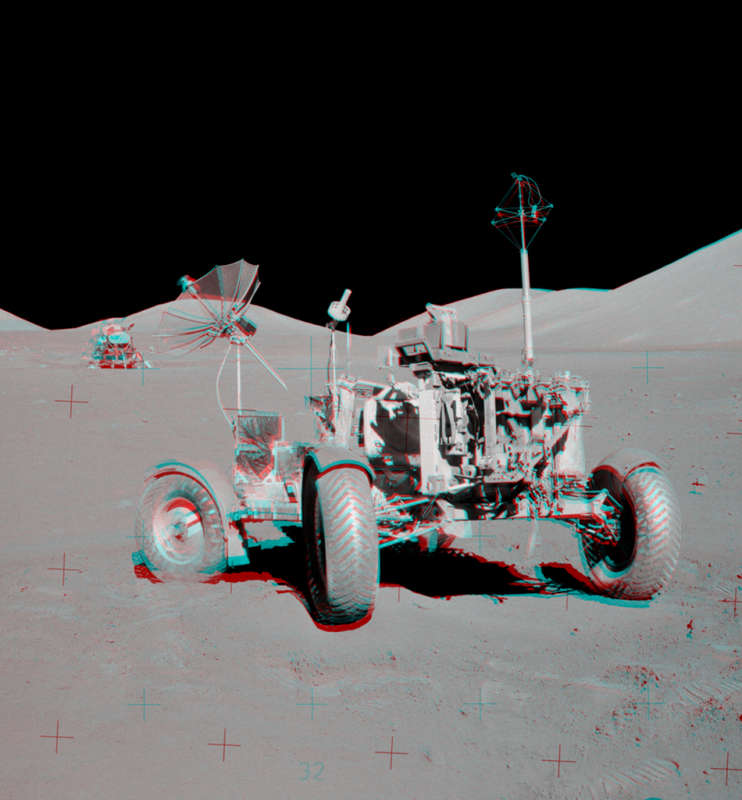 Apollo 17 VIP Site Anaglyph