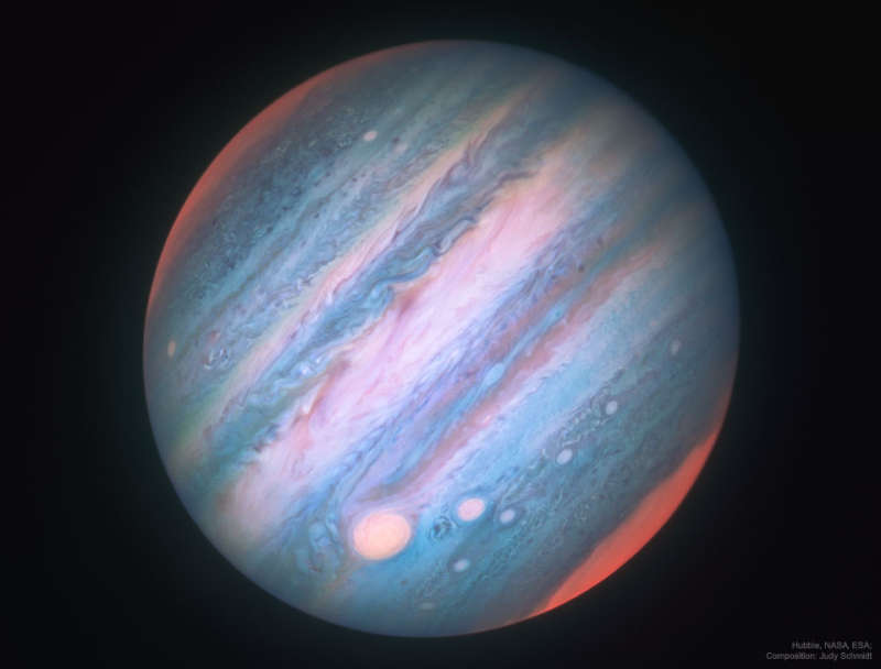 Jupiter in Infrared from Hubble