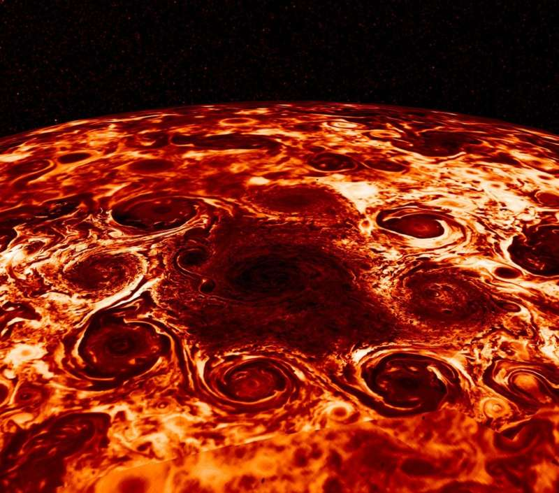 Cyclones at Jupiter s North Pole