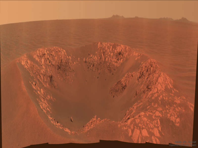 Intrepid Crater on Mars from Opportunity