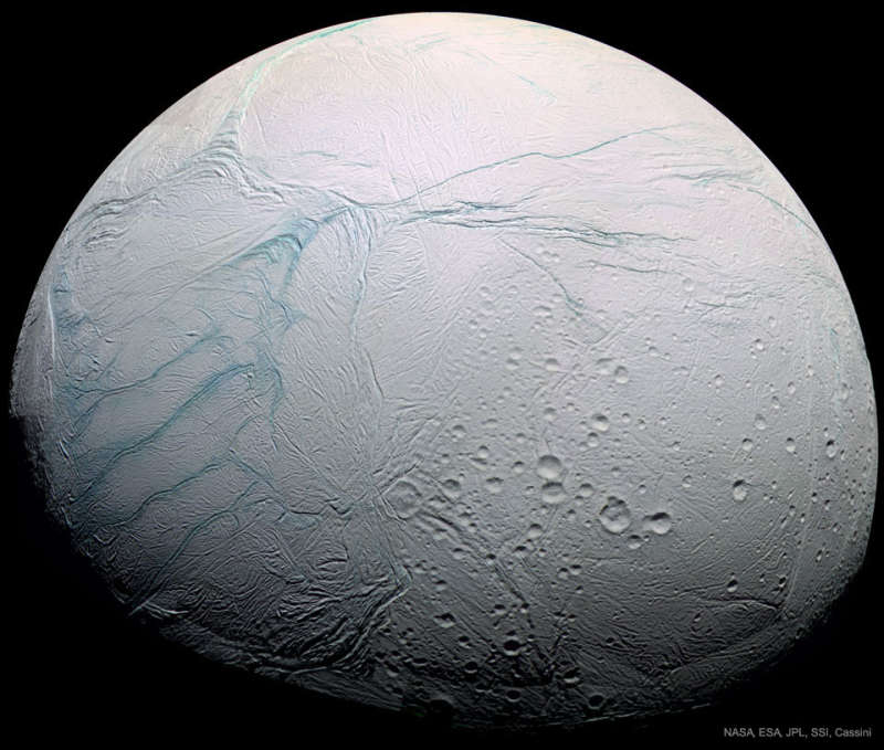 Fresh Tiger Stripes on Saturns Enceladus