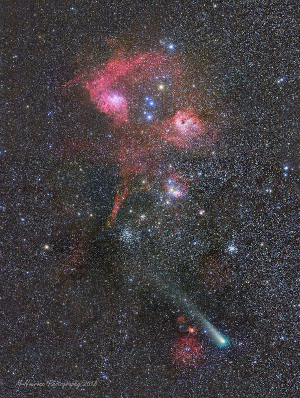 Comet, Clusters, and Nebulae