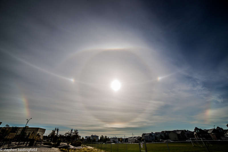 Ice Halos at Yellowknife