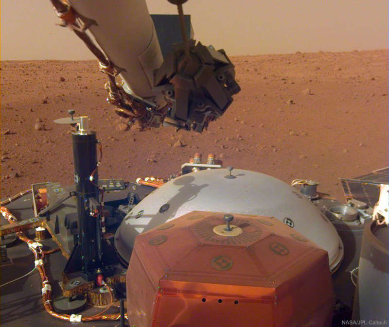 Sound and Light Captured by Mars InSight