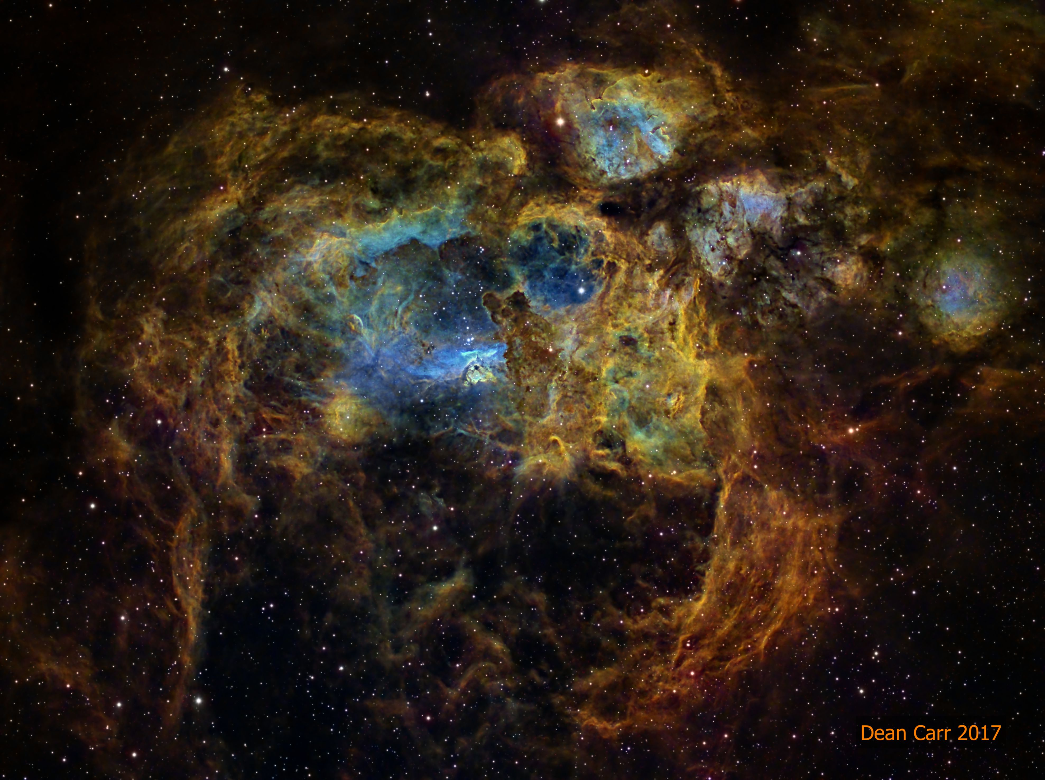 NGC 6357: tumannost' Lobster