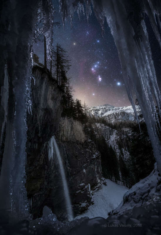 Orion over the Austrian Alps