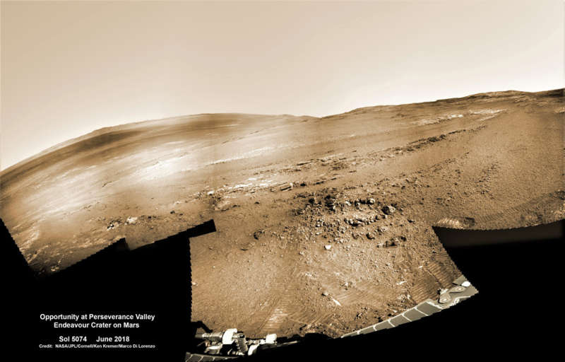 Opportunity at Perseverance Valley