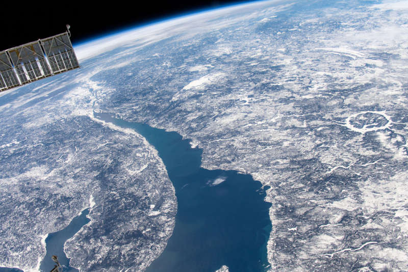 Manicouagan Impact Crater from Space